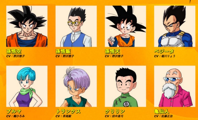 Dragon Ball Super personajes