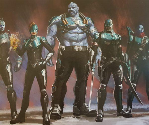 La StarForce y sus miembros se ven muy distintos en estos artes conceptuales de Captain Marvel