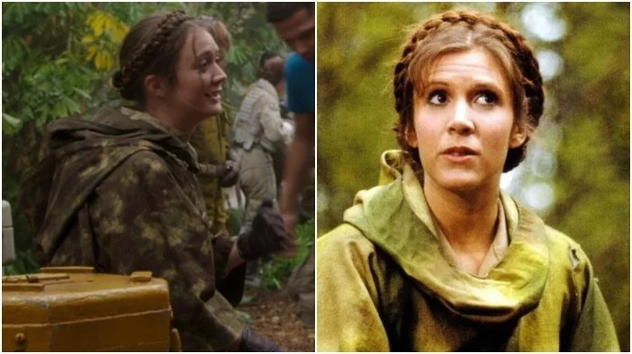 Billie Lourd interpreto a la joven Leia Organa en ¨The Rise Of Skywalker¨